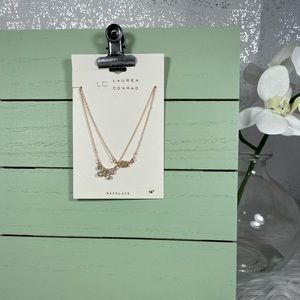 🆕 LC Lauren Conrad Dual Gold Chain Necklace Set